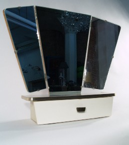 Wall mirror with drawer