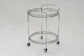 Chrome serving table