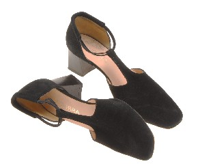 Suede heel shoes
