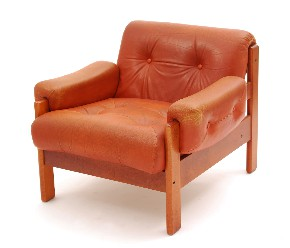 Leather armchair IX.