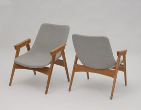 Set of grey easy chairs