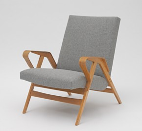 Pair of wooden chairs by Tatra Nábytok