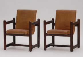 leather armchairs