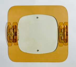 Mid-century Italian mirror with sconses