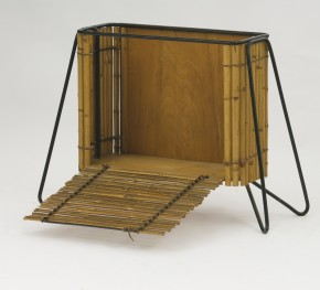 cabinet made of bamboo wood