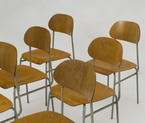 Set of school chairs