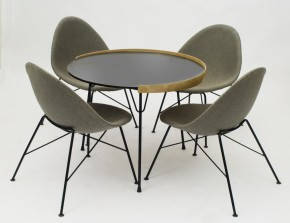 Set of cocktail fiberglass chairs