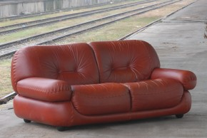 Leather twoseater sofa